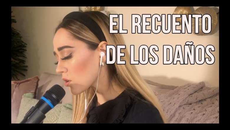 Genial interpretacion del single El recuento de los daños por Carolina Ross